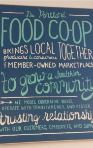 Sign at Portland Food Co-op