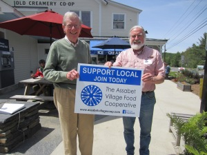 Old Creamery - Mike Kalagher (R), the Creamery's General Manager, and Will Hastings (L), Board Treasurer.